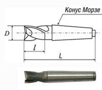 Фреза шпоночная тип 2 (к/х) Р6М5 ГОСТ 9140-78