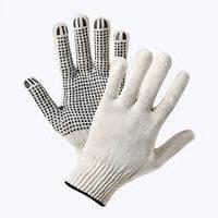 Перчатки х/б с резиновым вкраплением, L