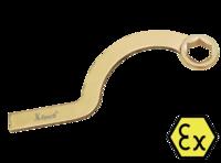 Ключ накидной серповидный искробезопасный X-Spark