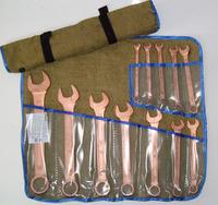 Набор ключей искробезопасных комбинированных НКК-1 ОМ (12 ед.) омеднённых
