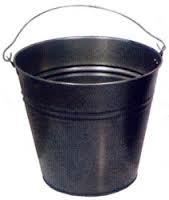 Ведро металлическое черное 15л