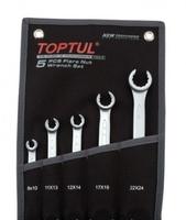 Набор ключей разрезных 5 шт.8-24 (черный чехол) GPAQ0502 TOPTUL