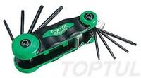 Набор складной ключей TORX: T6-T25 (материал CRV-6150)AIFB0802