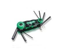 Набор складной ключей HEX: 2,2.5,3,4,5,6,8 мм (материал CRV-6150)AGFB0701 TOPTUL