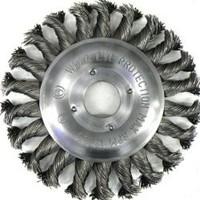 Щетка дисковая 125mm x 22,2 d 0,50 ST нержавеющая плетенная проволока