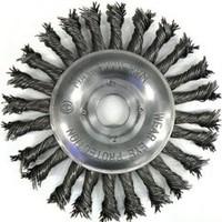 Щетка дисковая 150mm x 22,2 d 0,80 ST закаленная плетенная проволока (135580153)