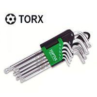 Набор Г-обр. ключей TORX T10-T50  9ед. длинных с отверстием и шаром GAAL0925